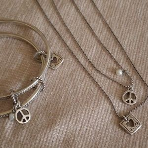 Brighton Gratitude Peace necklace bracelet
